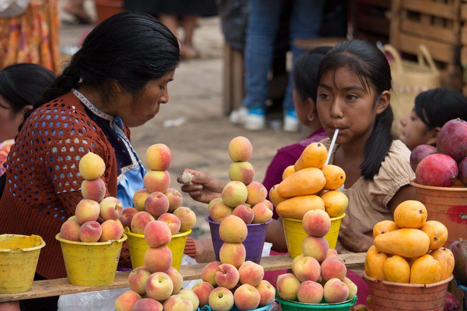 Fruit stand in Chiapas market