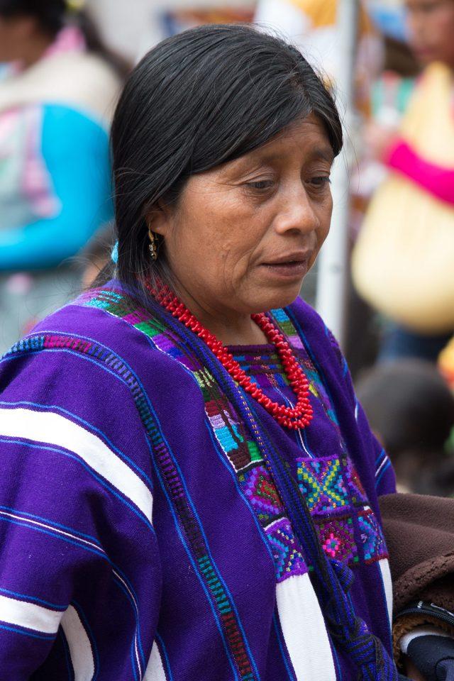 Woman at market in San Cristobal