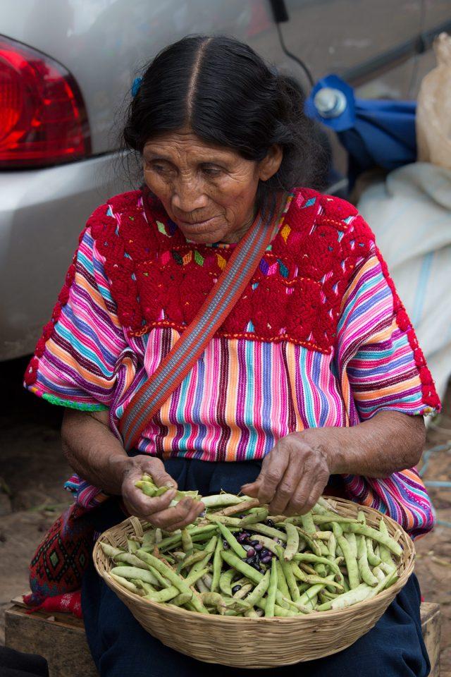 Indigenous woman in Chiapas market