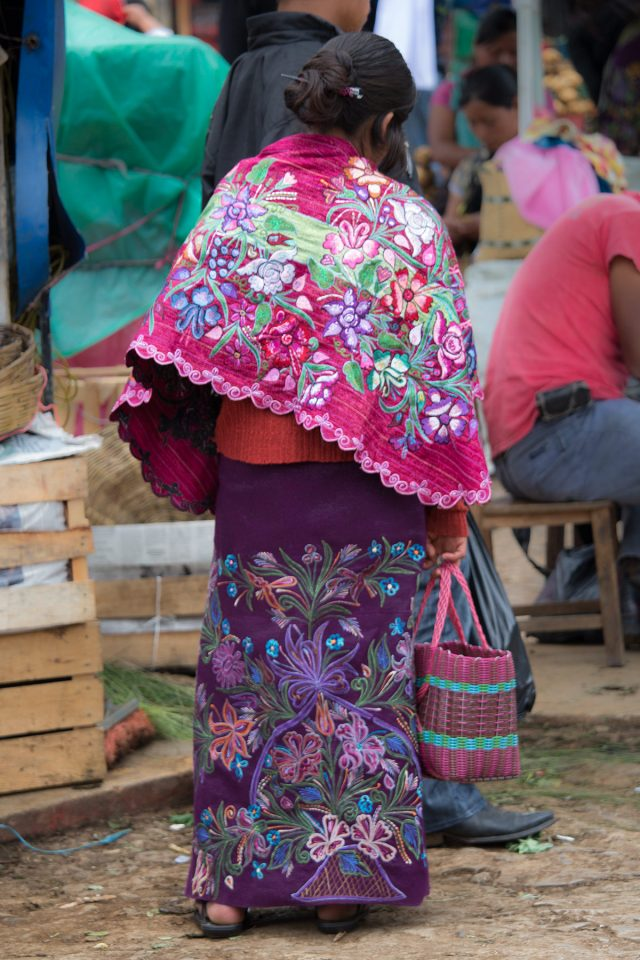 Gorgeous colorful clothing of Chiapas