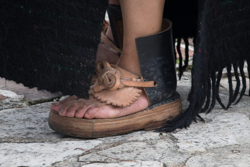 Traditional shoes in Zinacantan