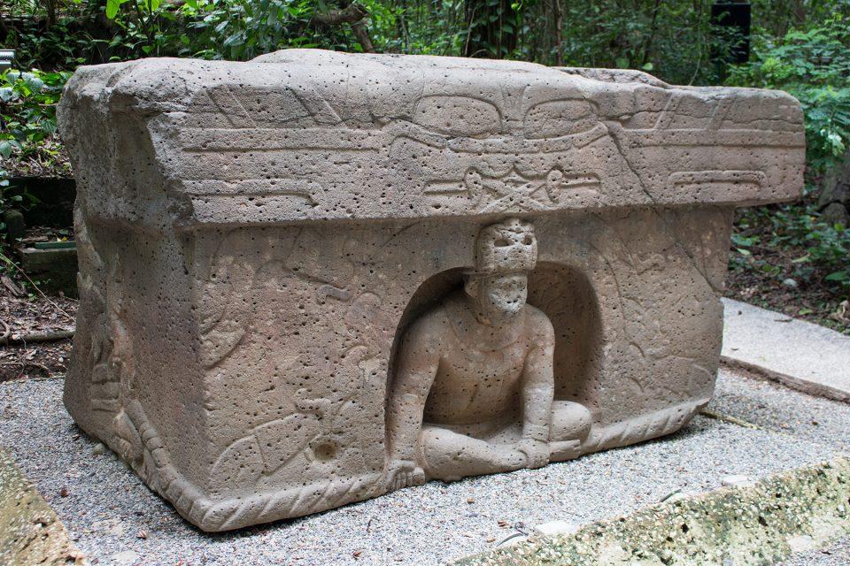 Olmec altar at La Venta