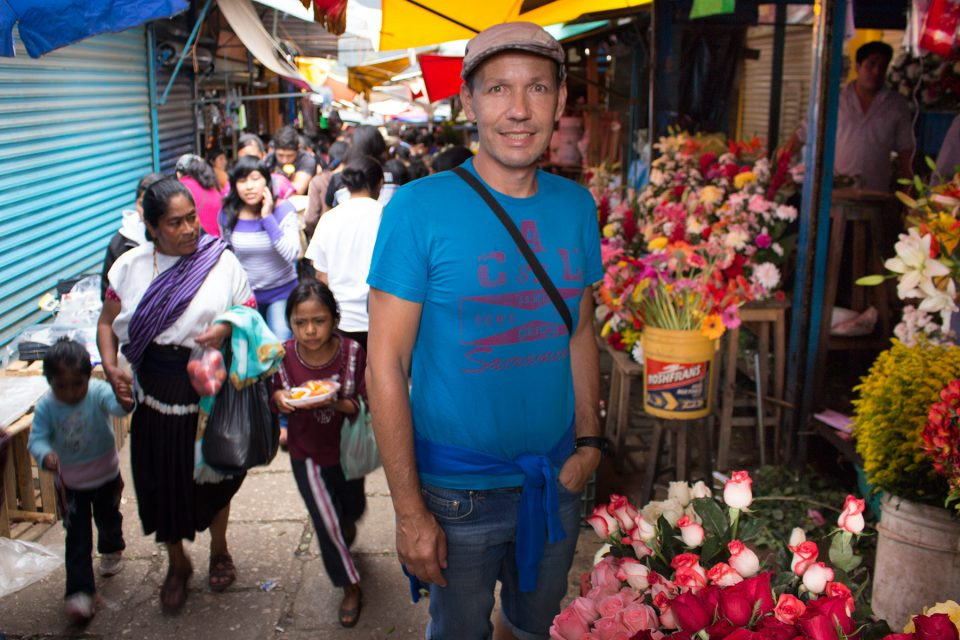 Thomas at the Mercado VIejo in San Cristobal
