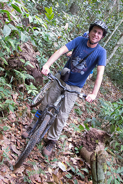 Tony jungle mountain biking