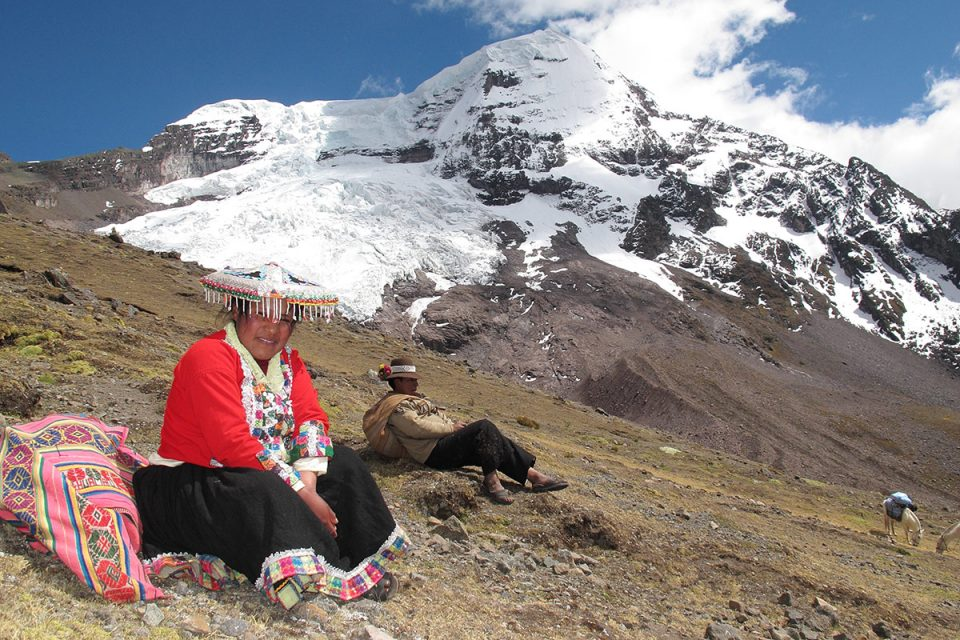 Andean Lodges: Wilma decked out in her funky walking hat