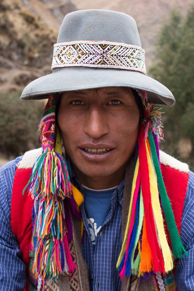 Andean Lodges: Roberto, our horseman, shows off one of his many trekking hats