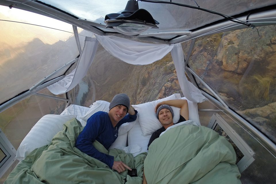 Skylodge Adventure Suites: In bed suspended a 1,000 ft in the air