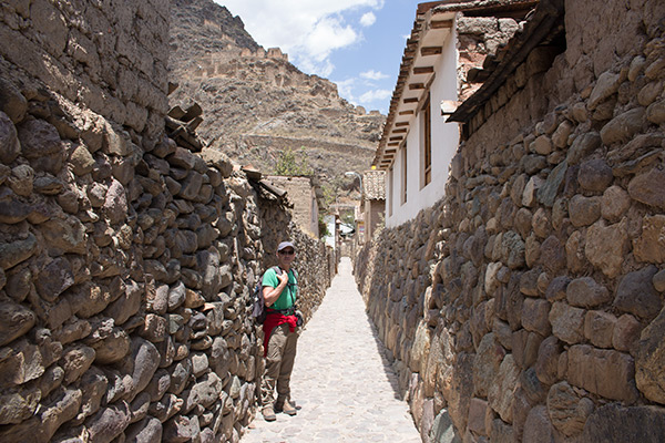 Thomas in the backstreets of Ollantaytambo