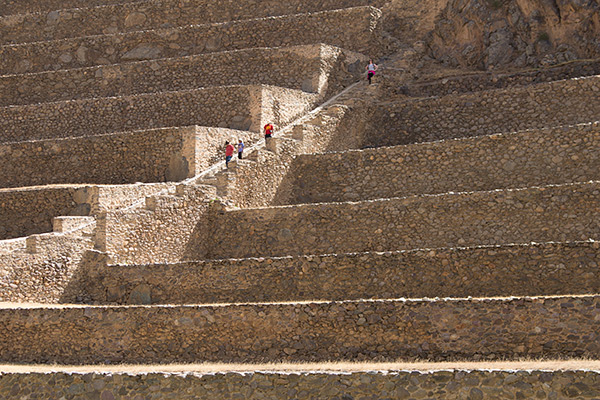 Terraces of Ollantaytambo ruins