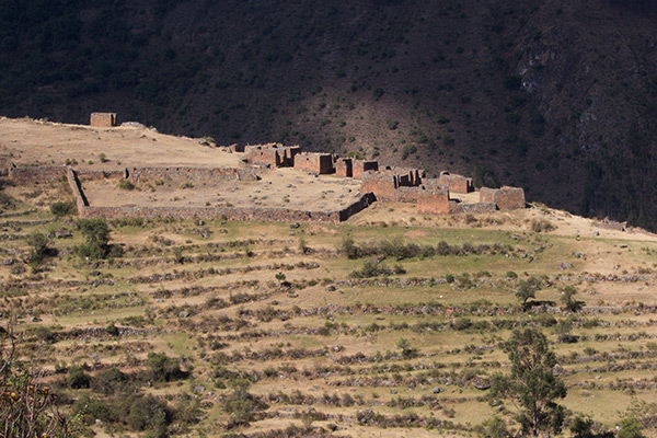 Pumamarka ruins from a distance