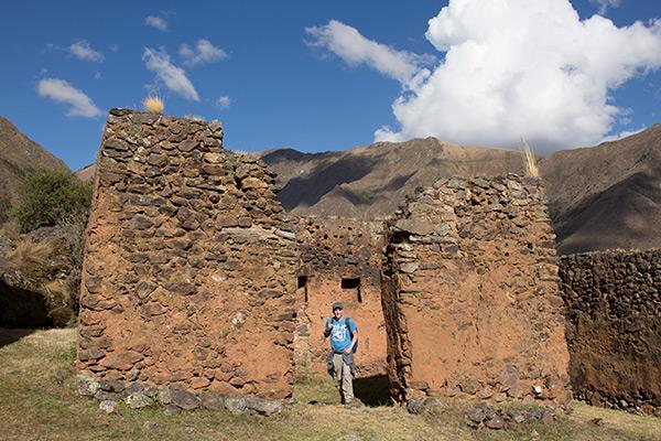 Tony standing in Pumamarka ruins
