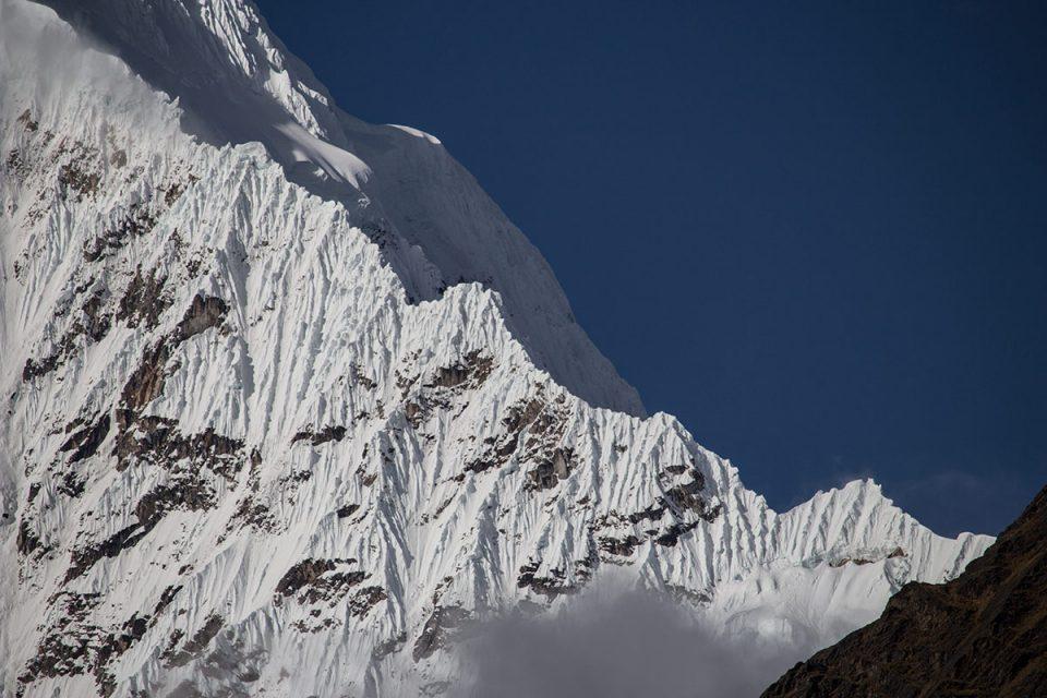 Salkantay trek to Machu Picchu: Slopes of Salkantay