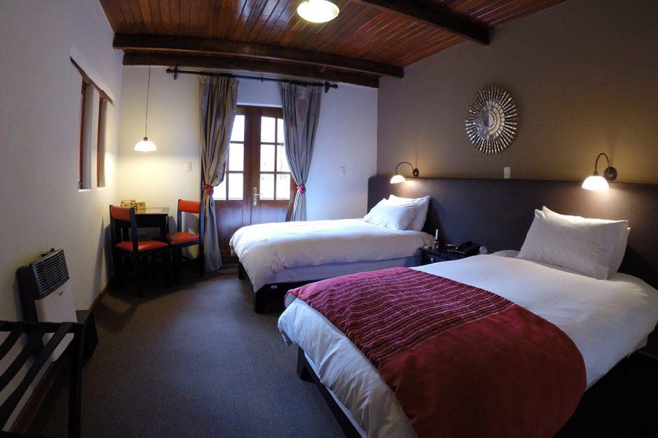 Salkantay trek to Machu Picchu: Bedroom in Salkantay Lodge