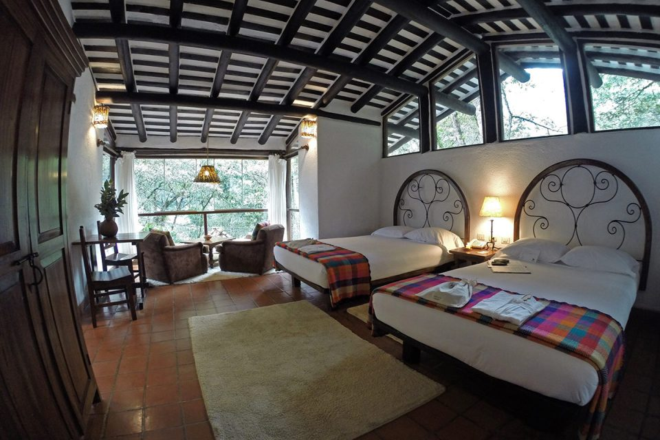 Salkantay trek to Machu Picchu: Our room at Inkaterra Machu Picchu Pueblo Hotel in Aguas Calientes