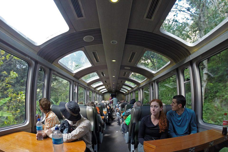 Salkantay trek to Machu Picchu: The train to Aguas Calientes