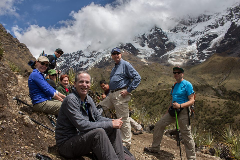 Salkantay trek to Machu Picchu: Our trekking family on the trail