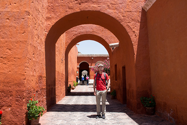 Colorful streets of Monasterio de Santa Catalina