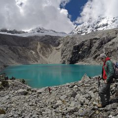 Thomas arriving at Laguna 69