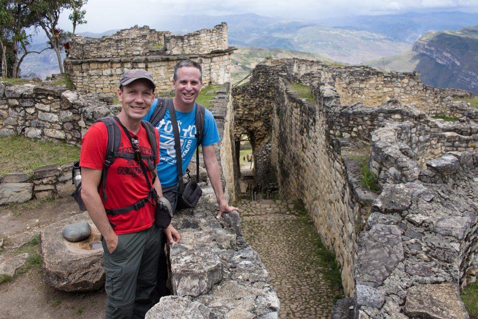 Tony and Thomas at the gates of Kuelap