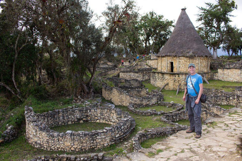 Tony explores the ruins of Kuelap
