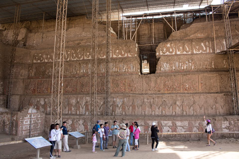Huaca de la Luna decorated walls