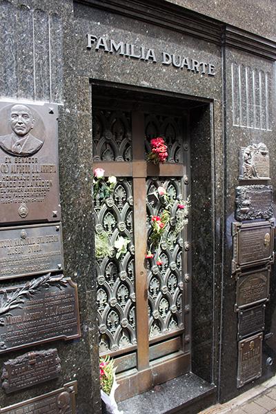 Evita's grave in Recoleta