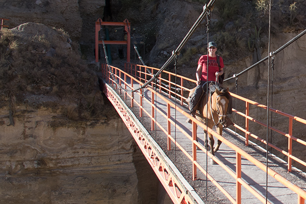 Riding in Colca Canyon