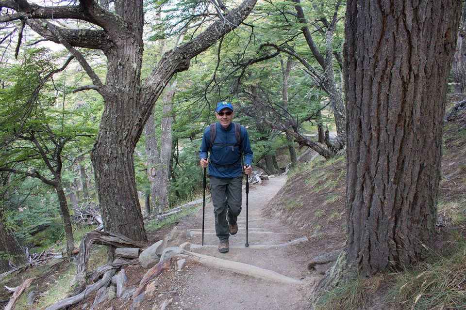 Hiking in Los Glaciares National Park North: Thomas on the way to Laguna Capri
