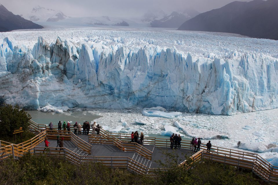 Los Glaciares National Park: View over the Perito Moreno Glacier