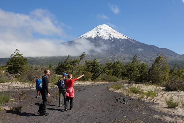 Hiking in Vicente Pérez Rosales National Park, Chile