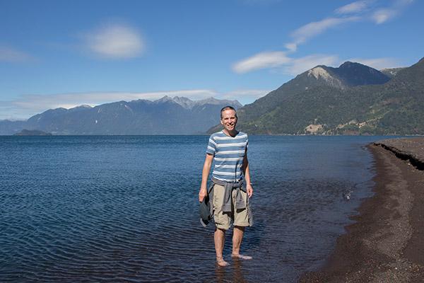 Tony at Todos los Santos Lake near Petrohué