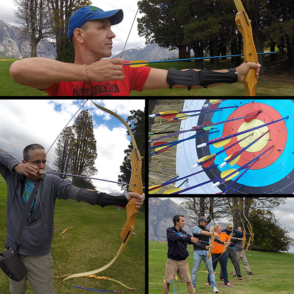 Archery lessons at the Llao Llao