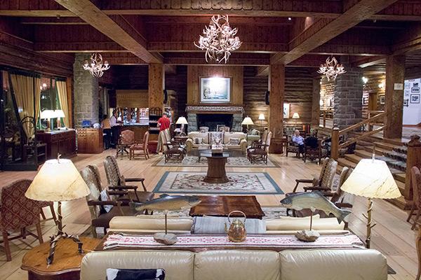 The Llao Llao's beautiful lobby bar