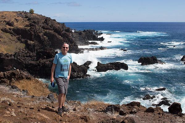 Amazing volcanic coastline