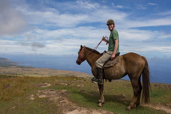 Tony at the top of Maunga Terevaka