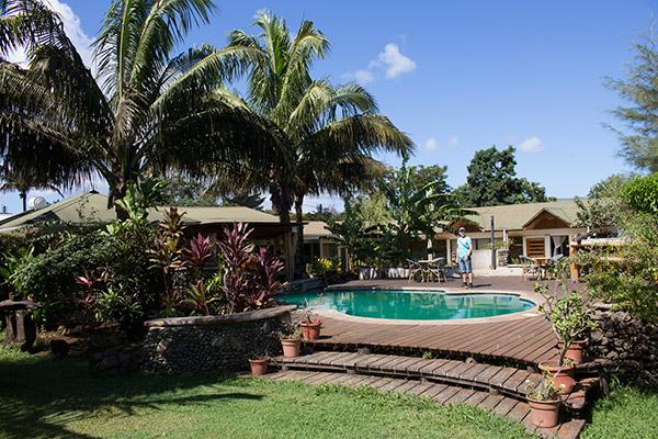 Pool and gardens at Chez Maria Goretti