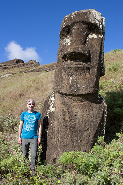 Thomas at Rano Raraku