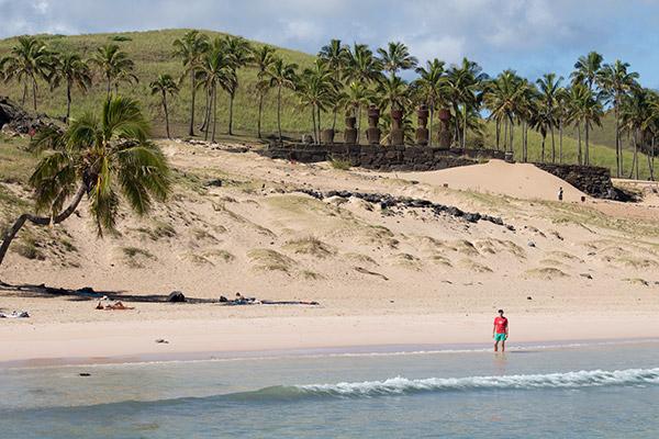 Thomas at Anakena Beach
