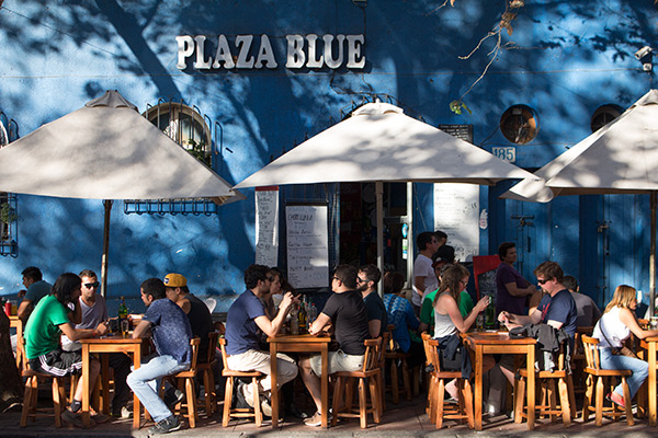 Street cafe in Barrio Bellavista, Santiago