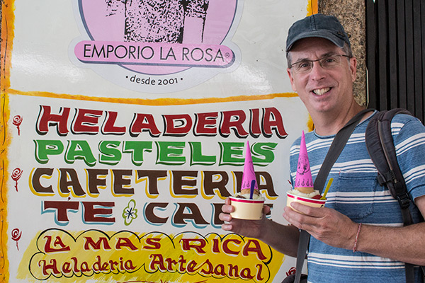 Our favorite ice cream, Emporio la Rosa, Santiago
