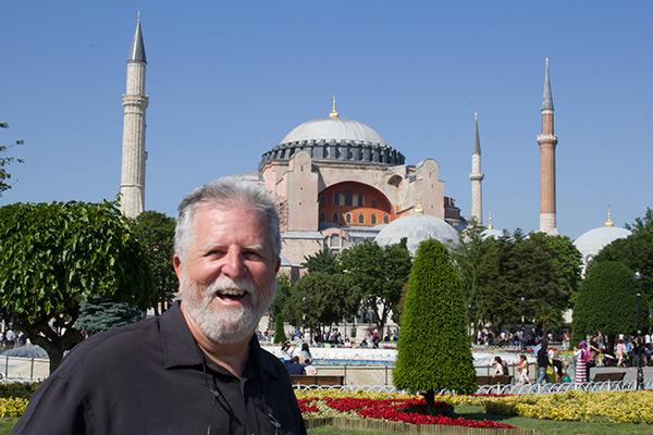 My dad in front of amazing Hagia Sophia