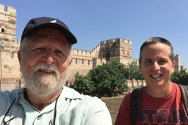 Walking the walls of Istanbul with my dad