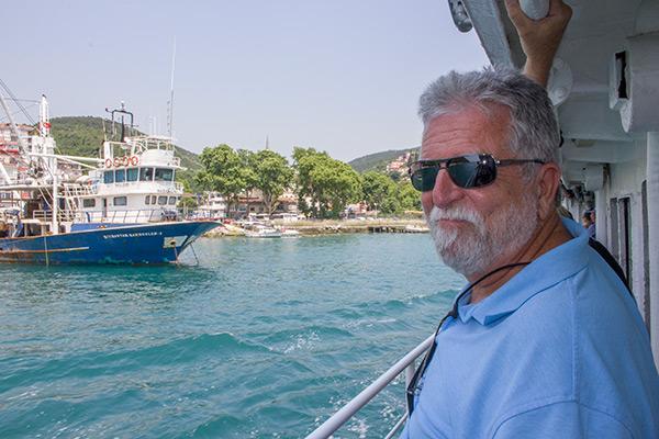 Sailing up the Bosphorus
