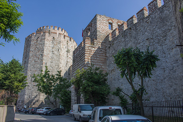The walls of Yedikule Fortress
