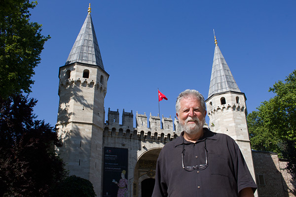 Dad entering Topkapı Palace