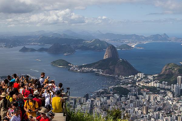 View from Corcovado Mountain in Rio de Janeiro, Brazil