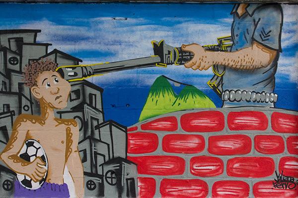 Graffiti in Rio de Janeiro, Brazil