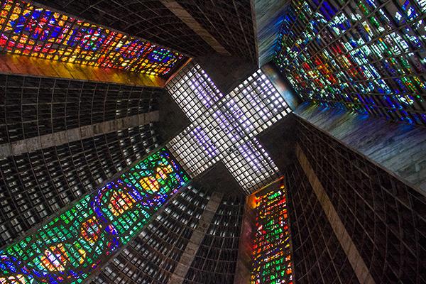 Metropolitan Cathedral São Sebastião in Rio de Janeiro, Brazil