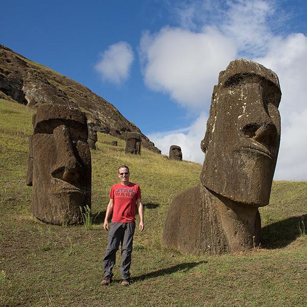 Tony on Easter Island