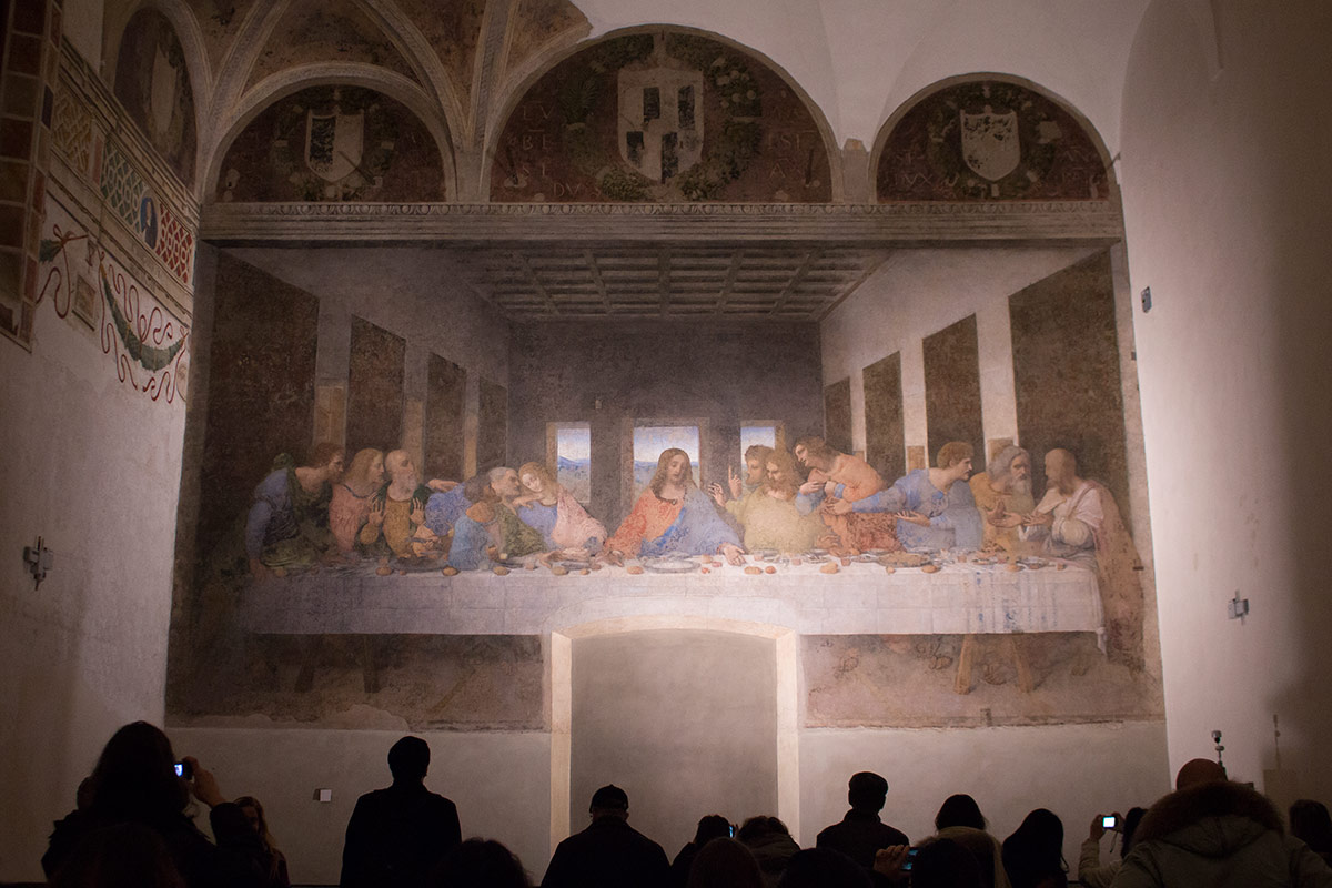 "Do you remember this ""thing"" in front of the Last Supper ... Da Vinci Last Supper High Resolution"